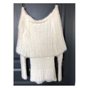Shag glitter thread Bebe sweater.